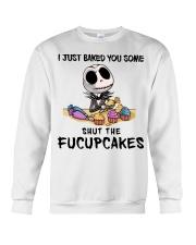 Skellington Just baked you some fucupcakes shirt Crewneck Sweatshirt thumbnail