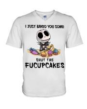 Skellington Just baked you some fucupcakes shirt V-Neck T-Shirt thumbnail