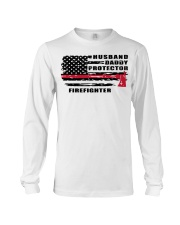 Husband daddy protector firefighter shirt Long Sleeve Tee tile