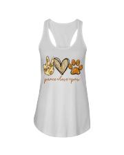Peace love Paw shirt Ladies Flowy Tank thumbnail