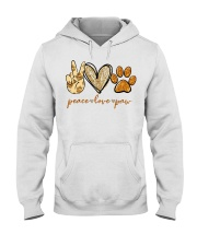 Peace love Paw shirt Hooded Sweatshirt thumbnail