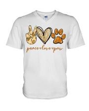 Peace love Paw shirt V-Neck T-Shirt thumbnail
