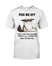 Grumpy Cat piss me off i will slap you so hard Classic T-Shirt front