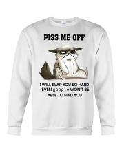 Grumpy Cat piss me off i will slap you so hard Crewneck Sweatshirt thumbnail