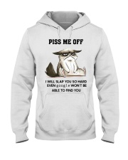 Grumpy Cat piss me off i will slap you so hard Hooded Sweatshirt thumbnail