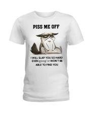 Grumpy Cat piss me off i will slap you so hard Ladies T-Shirt thumbnail