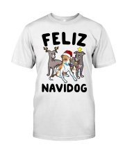Feliz Navidog Greyhound Christmas shirt Classic T-Shirt tile