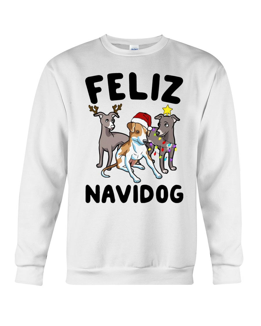 Feliz Navidog Greyhound Christmas shirt Crewneck Sweatshirt