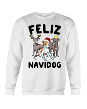 Feliz Navidog Greyhound Christmas shirt Crewneck Sweatshirt front