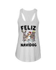 Feliz Navidog Greyhound Christmas shirt Ladies Flowy Tank thumbnail