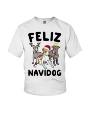 Feliz Navidog Greyhound Christmas shirt Youth T-Shirt thumbnail