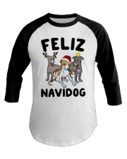 Feliz Navidog Greyhound Christmas shirt Baseball Tee thumbnail