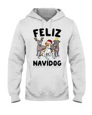 Feliz Navidog Greyhound Christmas shirt Hooded Sweatshirt thumbnail