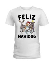 Feliz Navidog Greyhound Christmas shirt Ladies T-Shirt thumbnail