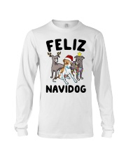 Feliz Navidog Greyhound Christmas shirt Long Sleeve Tee thumbnail