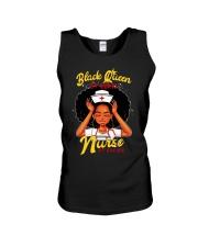 Black Queen by birth nurse by choice shirt Unisex Tank thumbnail