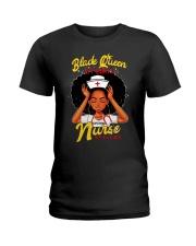 Black Queen by birth nurse by choice shirt Ladies T-Shirt thumbnail