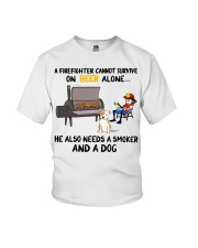 Firefighter beer needs a smoker and a dog shirt Youth T-Shirt thumbnail