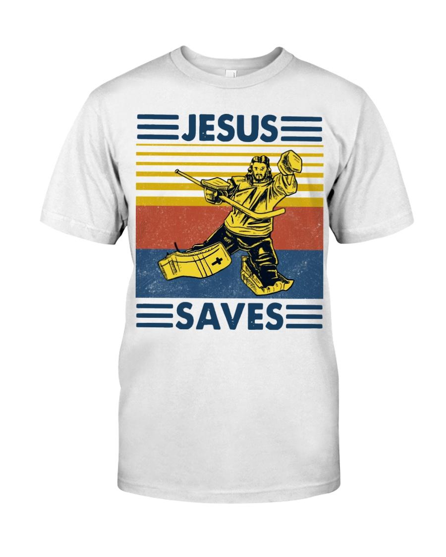 Hockey Jesus Saves Vintage shirt Classic T-Shirt