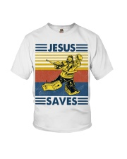 Hockey Jesus Saves Vintage shirt Youth T-Shirt thumbnail