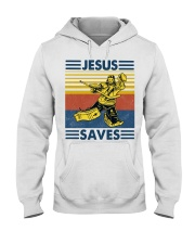 Hockey Jesus Saves Vintage shirt Hooded Sweatshirt thumbnail