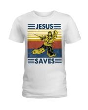 Hockey Jesus Saves Vintage shirt Ladies T-Shirt thumbnail