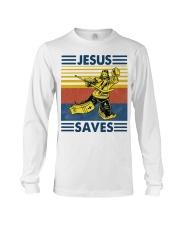Hockey Jesus Saves Vintage shirt Long Sleeve Tee thumbnail