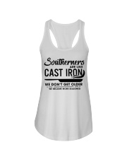 Southerners are like cast iron we don't get Ladies Flowy Tank thumbnail
