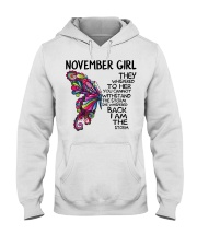 November girl Butterfly the whispered to her you Hooded Sweatshirt thumbnail