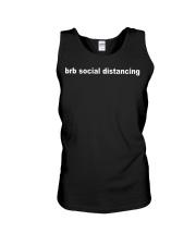Brb social distancing shirt Unisex Tank thumbnail
