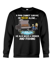 Man Beer Fishing Smoker shirt Crewneck Sweatshirt thumbnail