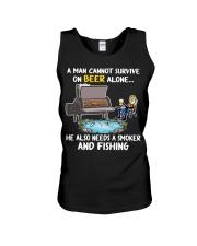 Man Beer Fishing Smoker shirt Unisex Tank thumbnail