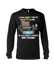 Man Beer Fishing Smoker shirt Long Sleeve Tee thumbnail
