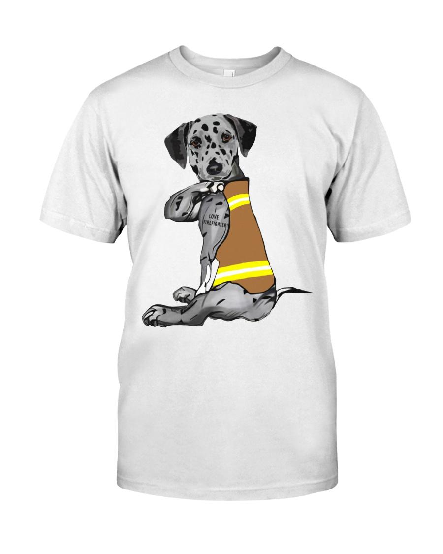 Dalmatian Tattoo I love firefinger shirt Classic T-Shirt