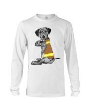 Dalmatian Tattoo I love firefinger shirt Long Sleeve Tee thumbnail