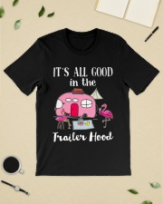Flamingos Camping It's all good in the trailer  Classic T-Shirt lifestyle-mens-crewneck-front-19