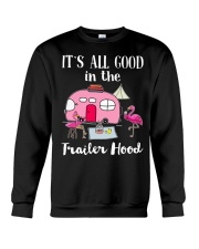Flamingos Camping It's all good in the trailer  Crewneck Sweatshirt thumbnail