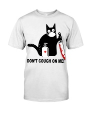 Black cat knife don't cough on me shirt Classic T-Shirt front