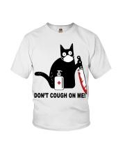 Black cat knife don't cough on me shirt Youth T-Shirt thumbnail