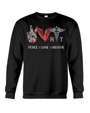 Peace Love Breathe shirt Crewneck Sweatshirt thumbnail