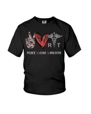 Peace Love Breathe shirt Youth T-Shirt tile