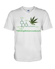 Tetrahydrocannabinol Weed shirt V-Neck T-Shirt thumbnail