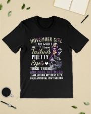 November Girl I am who I am I have Tattoos shirt Classic T-Shirt lifestyle-mens-crewneck-front-19