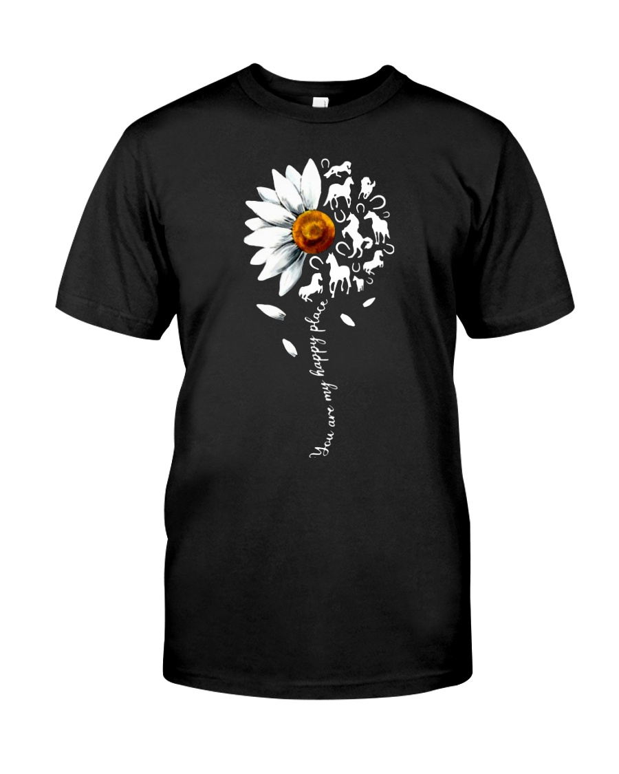 You are my happy place Horse daisy shirt Classic T-Shirt