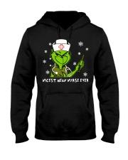 Grinch Nicest mean nurse ever shirt Hooded Sweatshirt thumbnail