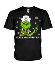 Grinch Nicest mean nurse ever shirt V-Neck T-Shirt thumbnail