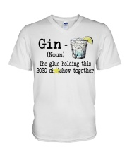 Gin Definition The glue holding this 2020  V-Neck T-Shirt thumbnail