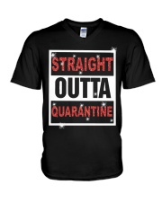 Straight Outta Quarantine shirt V-Neck T-Shirt thumbnail