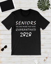 Seniors The one where they were Quarantined 2020 Classic T-Shirt lifestyle-mens-crewneck-front-17