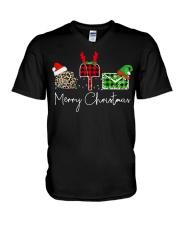United States Postal Service Merry Christmas shirt V-Neck T-Shirt thumbnail